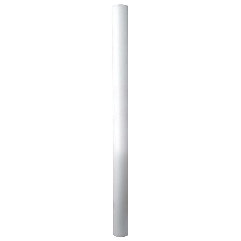Paschal candle in white wax with inner reinforcement 8x120cm 3