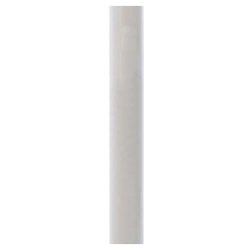 Paschal candle in white wax with inner reinforcement 8x120cm 1