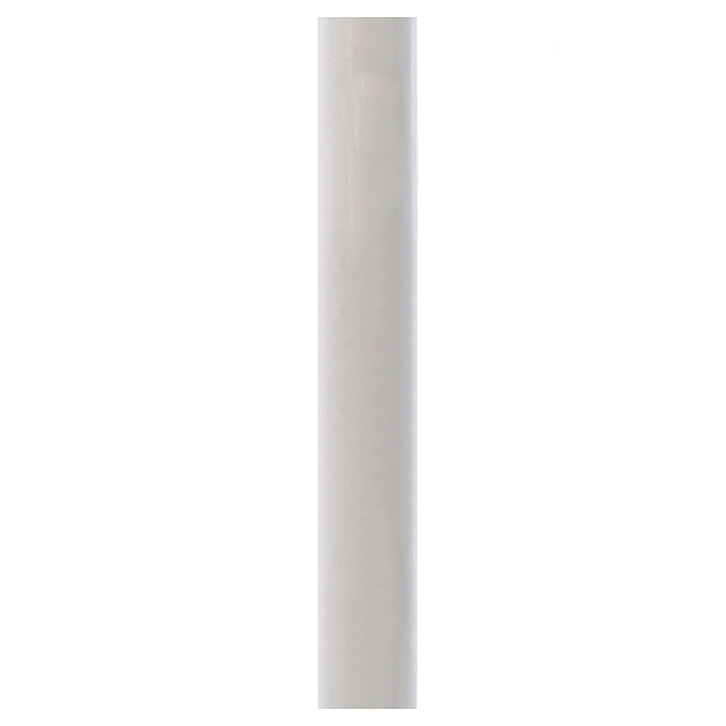 Paschal candle in white wax with support 8x150cm 3