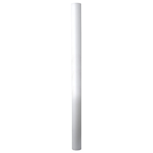 Paschal candle in white wax with support 8x150cm 2