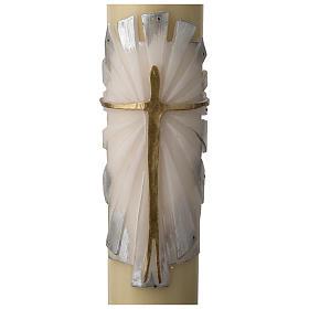 Cero pasquale cera d'api RINFORZO Risorto fondo bianco argento s2