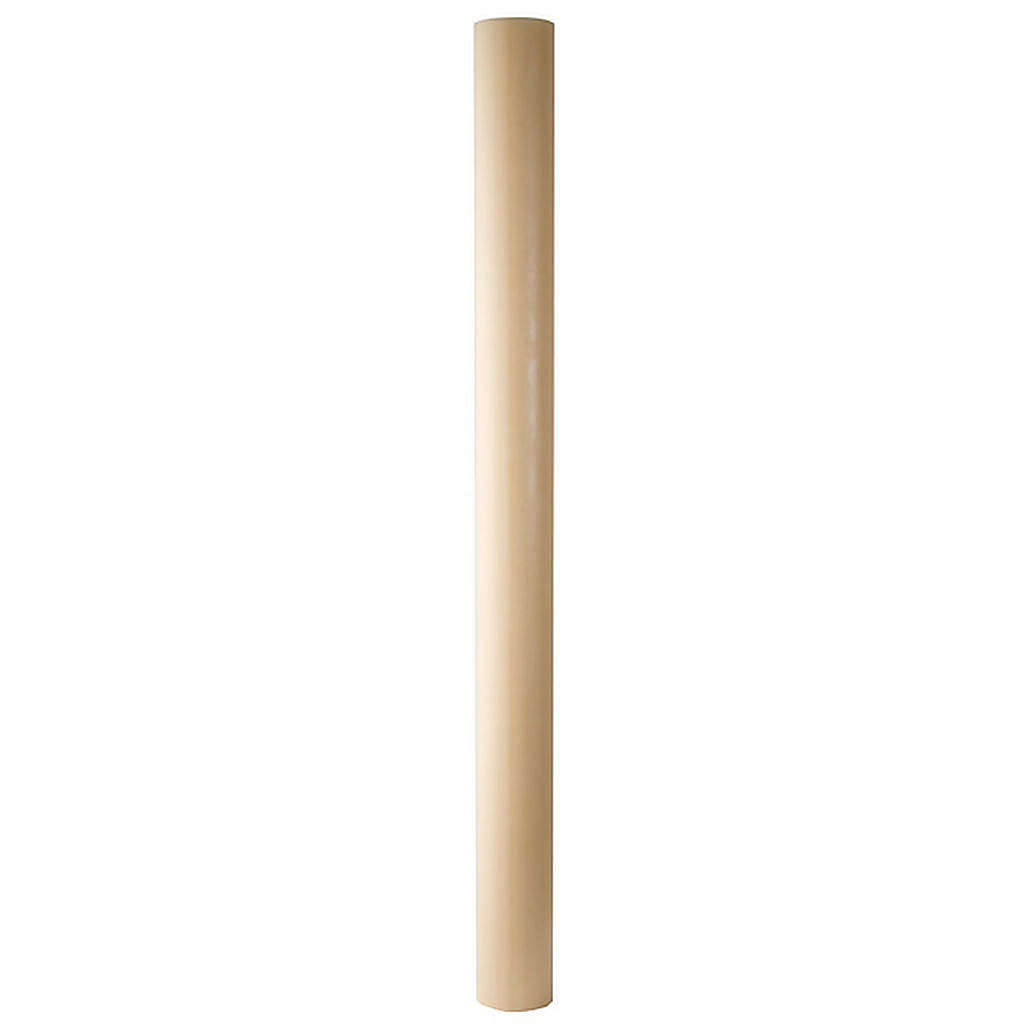 Paschal candle in beeswax with support 8x150cm 3