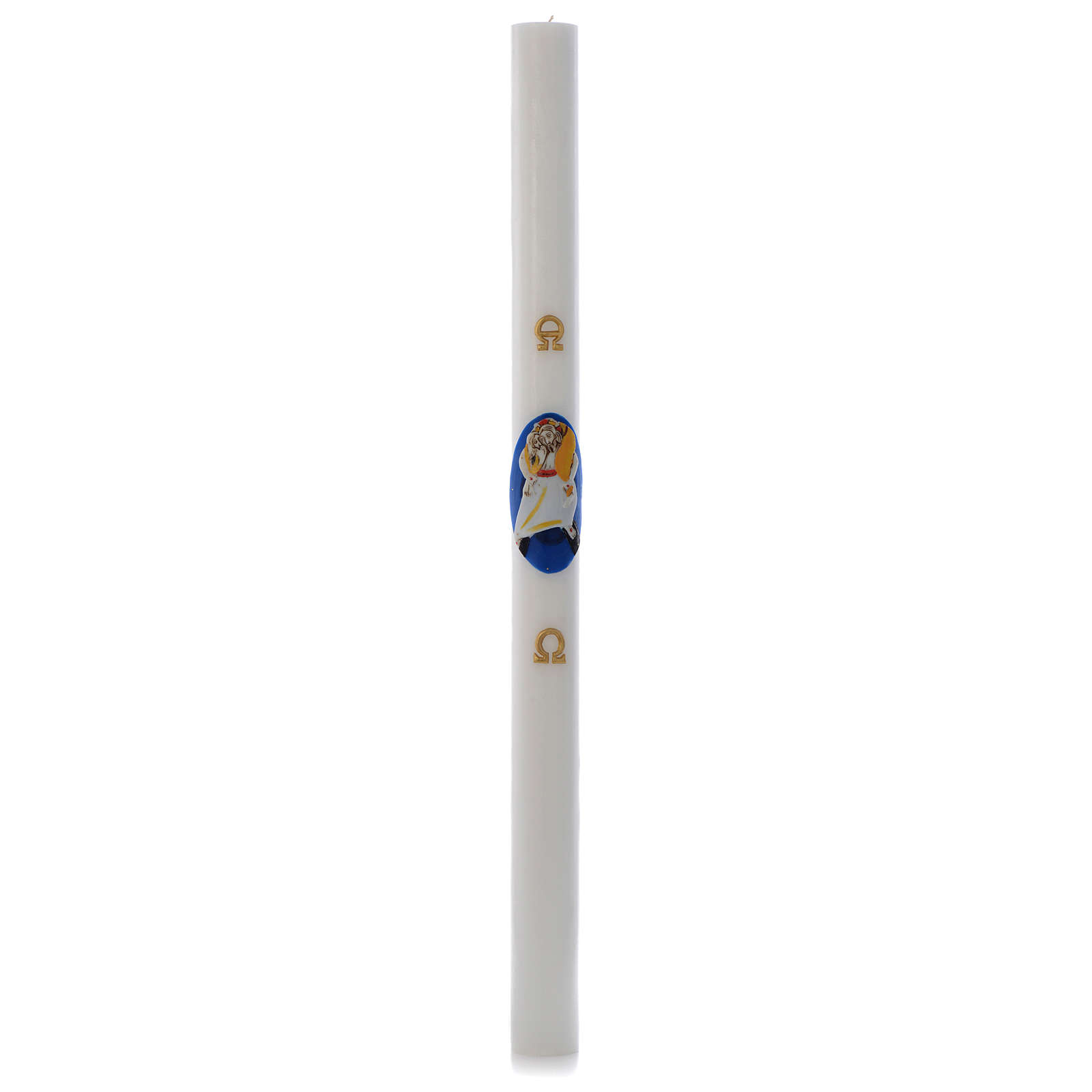 STOCK Cirio Pascual Logo Jubileo Misericordia cera blanca 8x120 cm 3