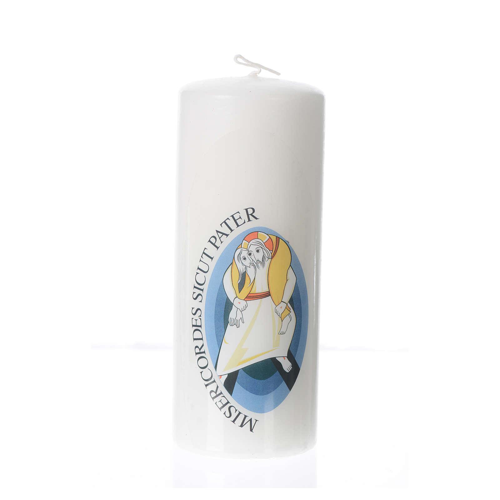 STOCK Candelotto Giubileo Misericordia 15x6 cm 3