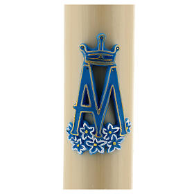 Altar candle Marian Symbol, beeswax 8cm s2