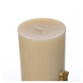 Altar candle Marian Symbol, beeswax 8cm s3