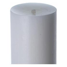 Cero pasquale cera bianca Cristo Risorto verde 8x120 cm s6