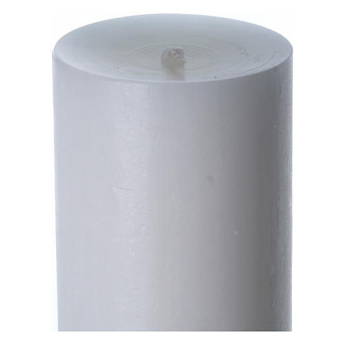 Easter candle in white wax with Risen Christ image green 8x120 cm 6
