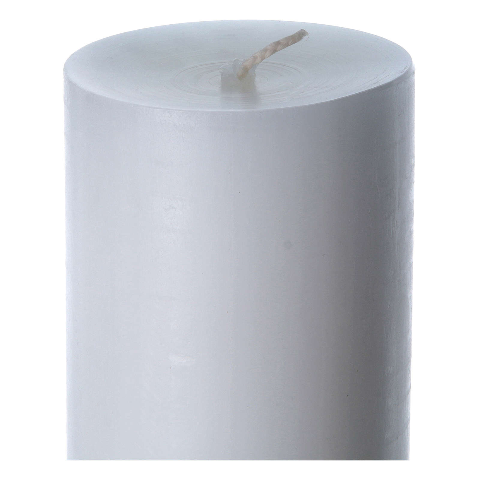 Easter candle in white wax with red cross in relief 8x120 cm 3