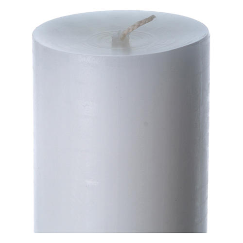 Easter candle in white wax with red cross in relief 8x120 cm 6