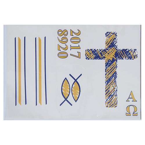 Stickers for Paschal candles, set G 1