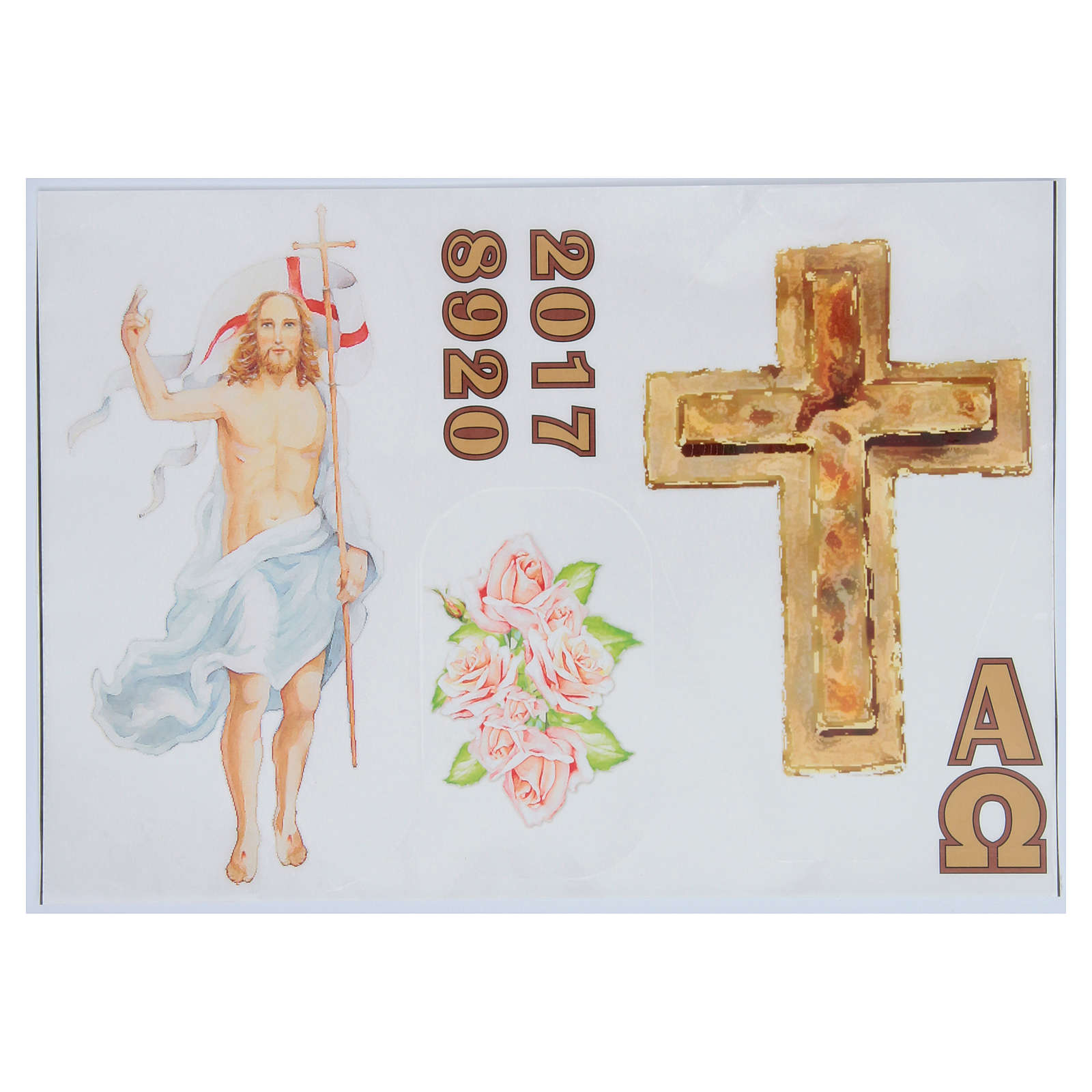 Stickers for Easter candles, set C 3
