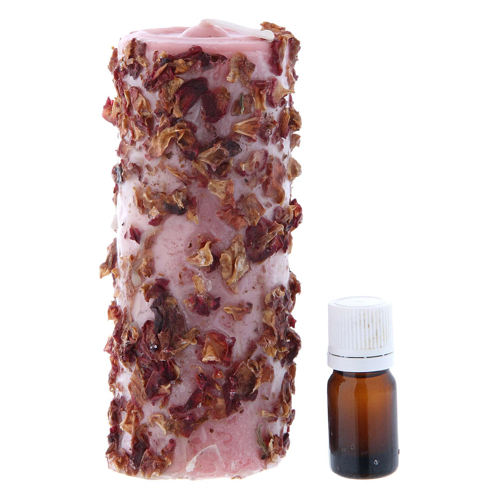 Vela perfumada rosa 3