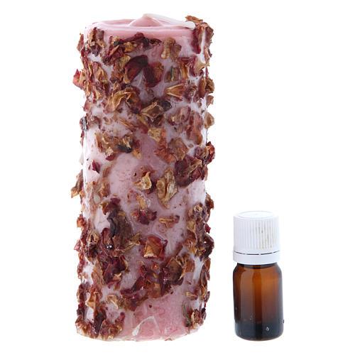Vela perfumada rosa 2