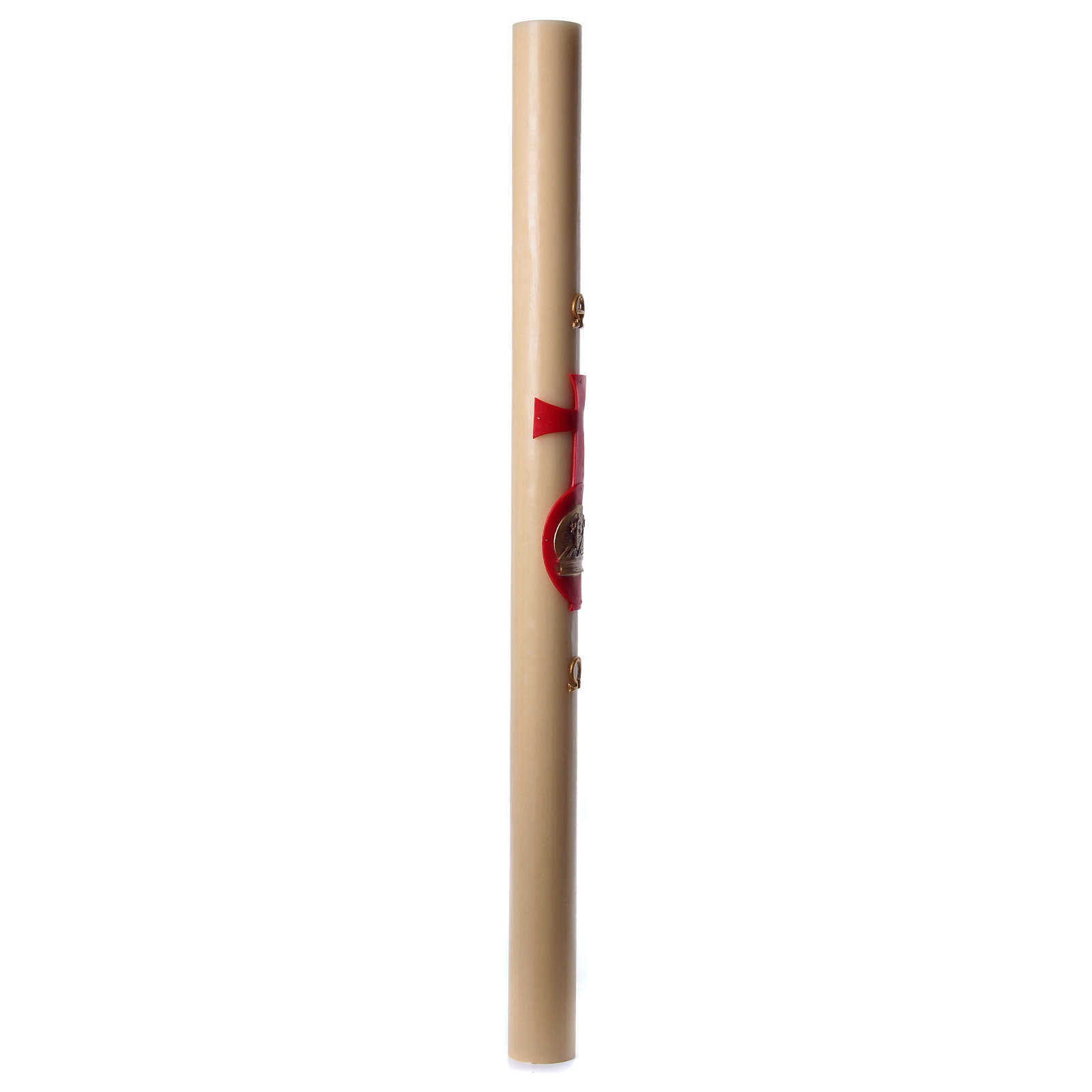 Cirio pascual cera de abeja cordero con libro rojo 8x120 cm 3