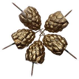 Pommes de pin grains encens pour cierge pascal s2