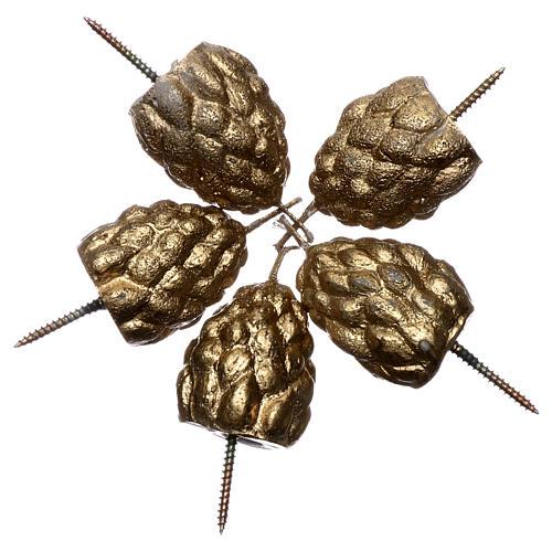 Pommes de pin grains encens pour cierge pascal 2
