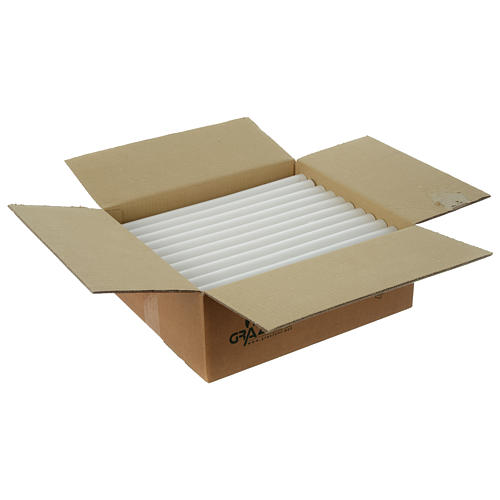 White Taper Candles 350x26 mm (55 pieces) 3