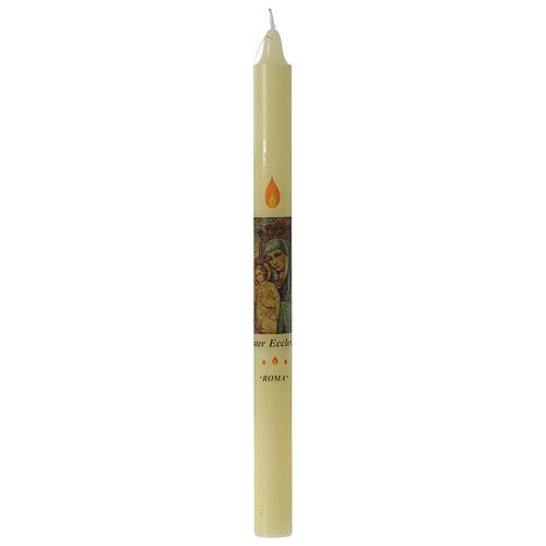 Candela Mater Ecclesia Roma in astuccio cera api 1