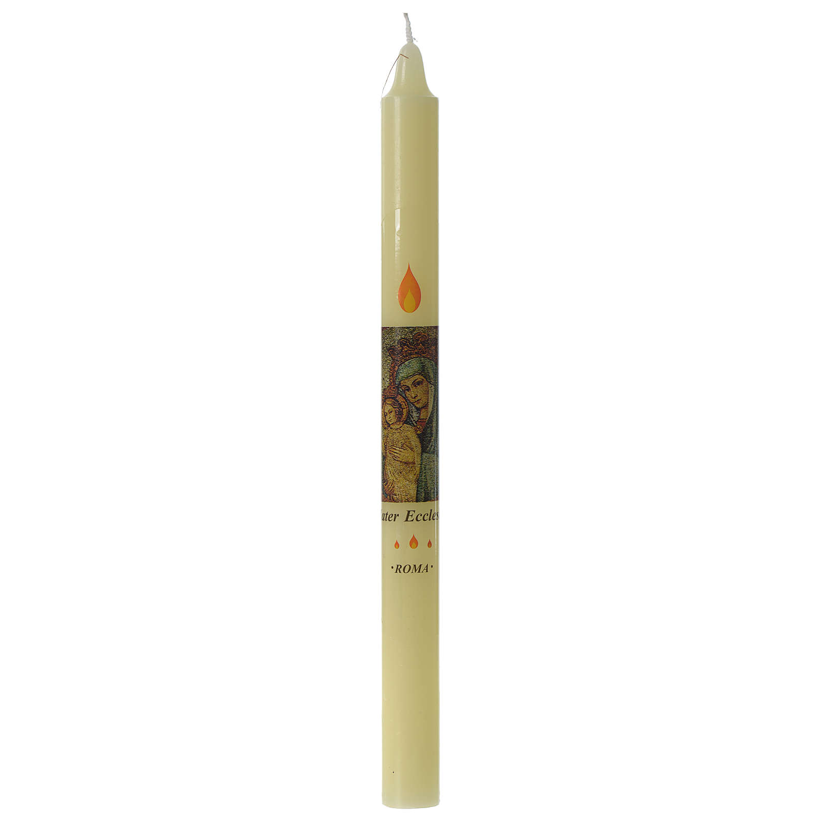 Beeswax Mater Ecclesia candle 3