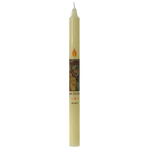 Beeswax Mater Ecclesia candle 1
