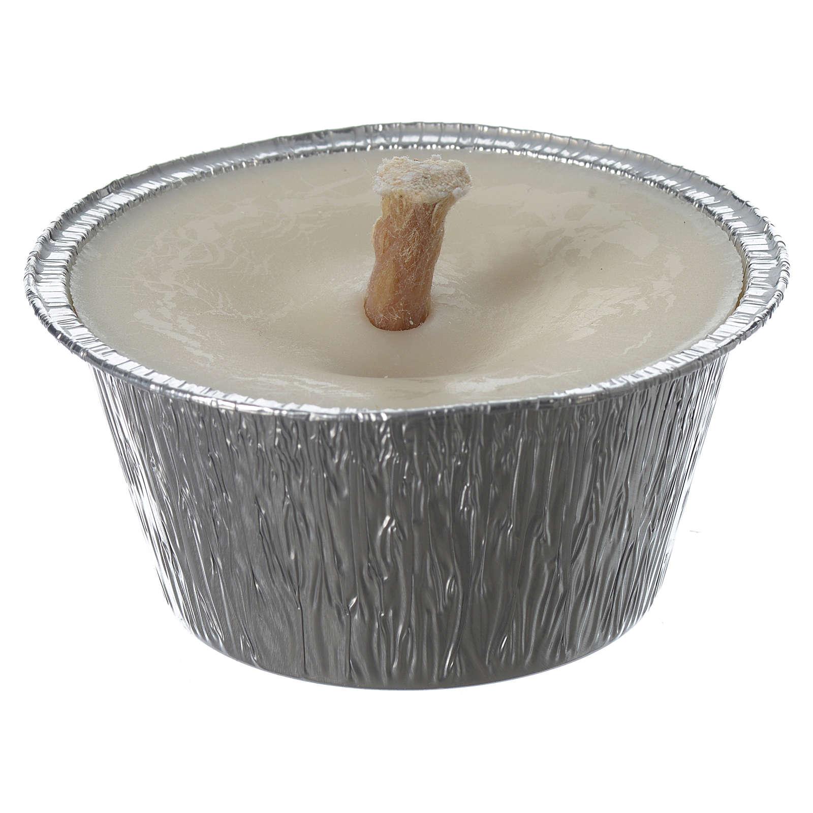 Bougie blanche avec pot aluminium 3