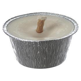 Bougies, cierges, chandelles: Bougie blanche avec pot aluminium