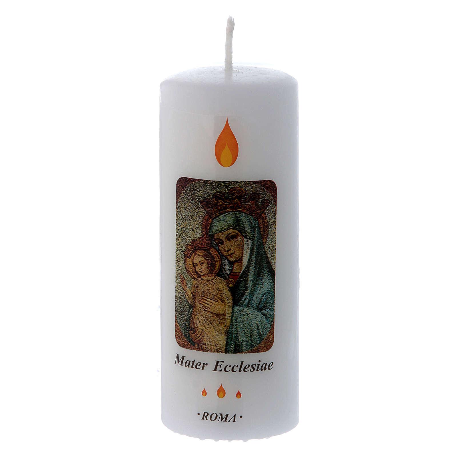 Candle Mater Ecclesiae Roma 13x5 cm 3