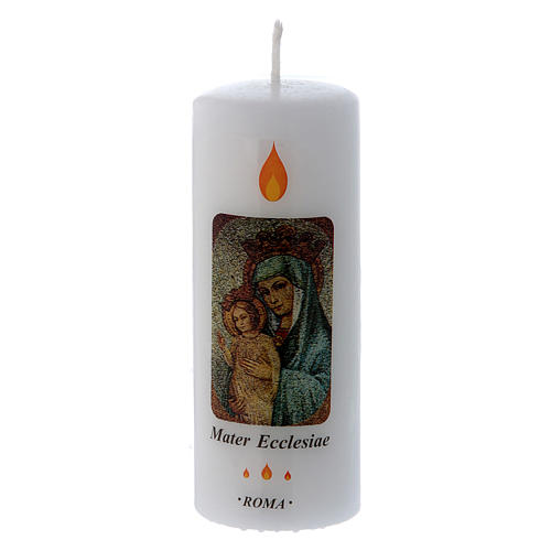 Candle Mater Ecclesiae Roma 13x5 cm 1