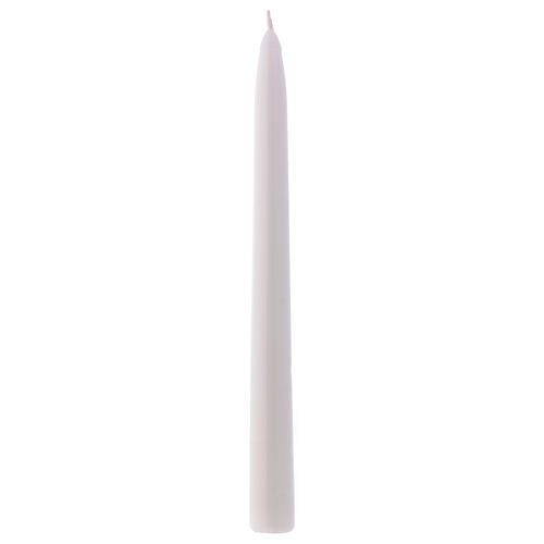 Bougie Conique Brillante Ceralacca h 25 cm blanche 1
