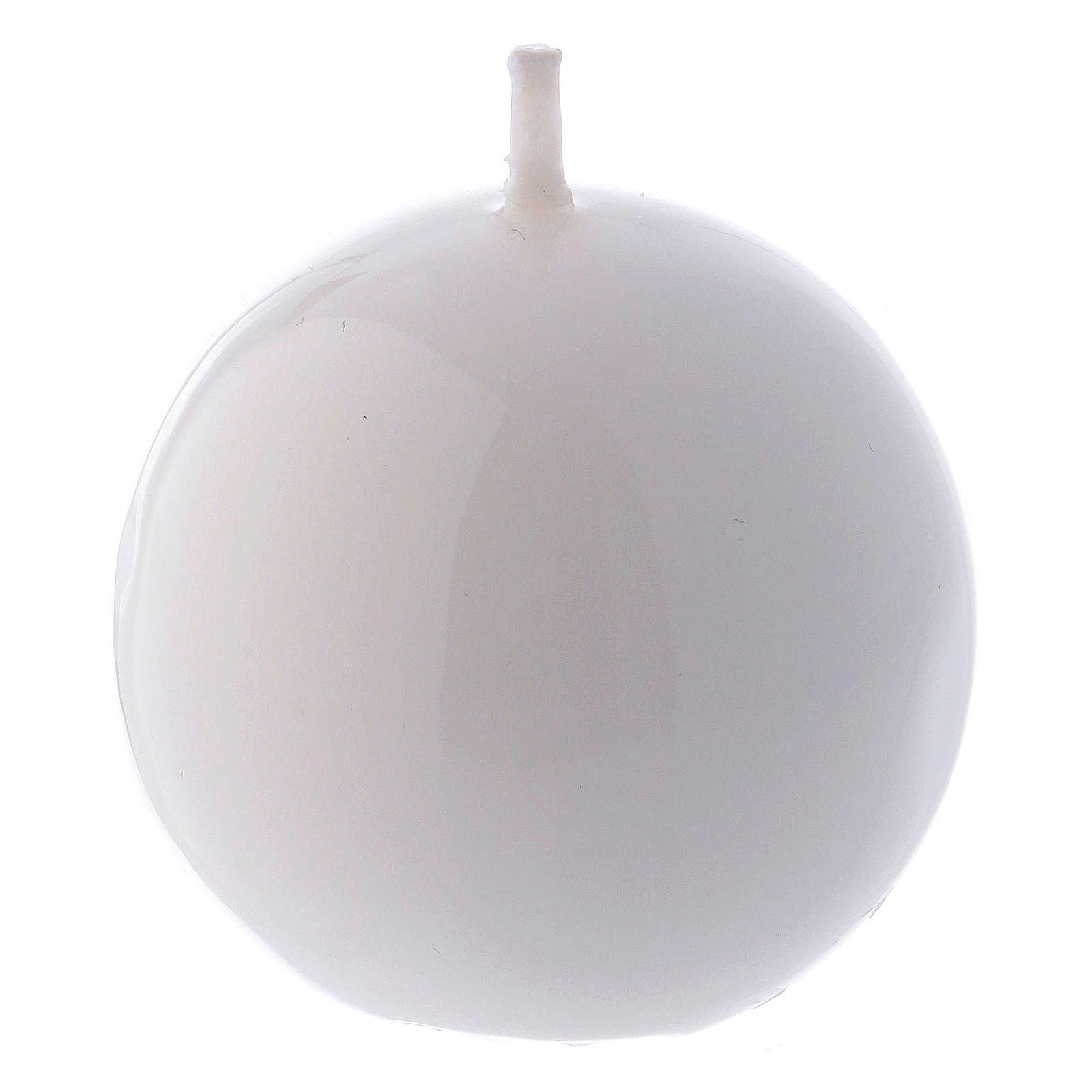 Bougie Sphère Brillante Ceralacca diam. 5 cm blanc 3