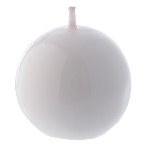 Bougie Sphère Brillante Ceralacca diam. 5 cm blanc 1