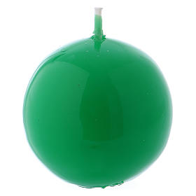 Bougies, cierges, chandelles: Bougie Sphère Brillante Ceralacca diam. 5 cm vert