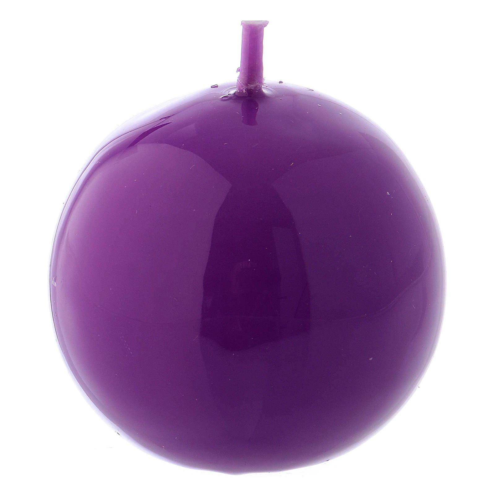 Bougie Sphère Brillante Ceralacca diam. 5 cm violet 3