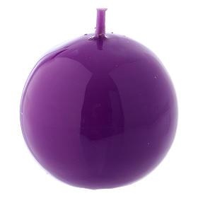 Bougies, cierges, chandelles: Bougie Sphère Brillante Ceralacca diam. 5 cm violet