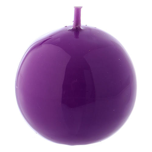 Bougie Sphère Brillante Ceralacca diam. 5 cm violet 1