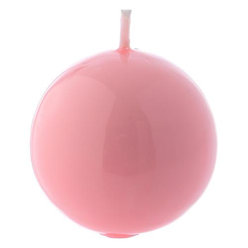 Bougie Sphère Brillante Ceralacca diam. 5 cm rose 1