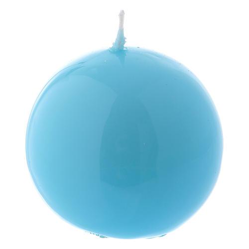 Bougie Sphère Brillante Ceralacca diam. 5 cm bleu clair 1