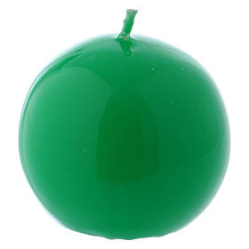 Vela Esfera Lúcida Lacre d. 6 cm verde s1