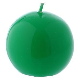 Bougies, cierges, chandelles: Bougie Sphère Brillante Ceralacca diam. 6 cm vert