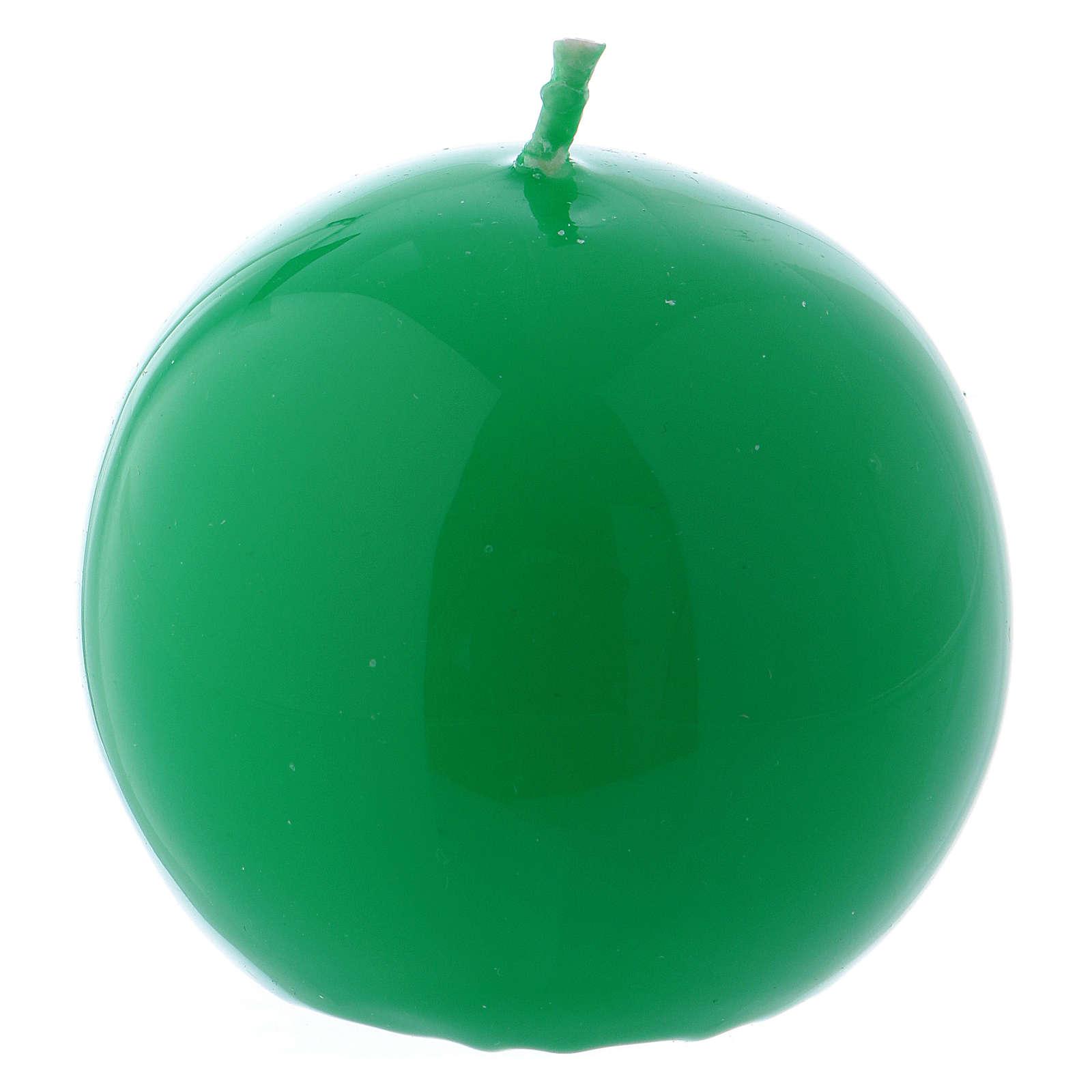 Candela Sfera Lucida Ceralacca d. 6 cm verde 3