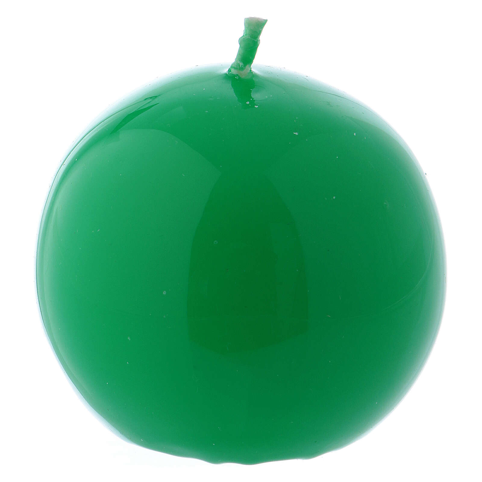 Shiny Sphere Candle Ceralacca, d. 6 cm green 3