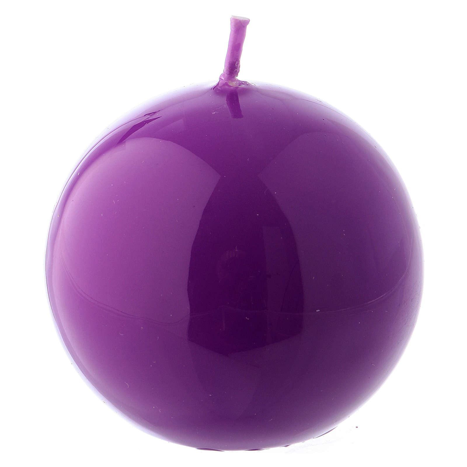 Vela Esfera Lúcida Lacre d. 6 cm violeta 3