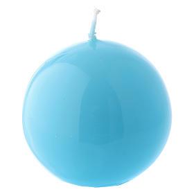 Bougies, cierges, chandelles: Bougie Sphère Brillante Ceralacca diam. 6 cm bleu clair