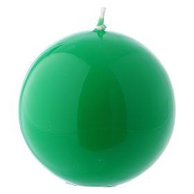 Bougies, cierges, chandelles: Bougie Sphère Brillante Ceralacca diam. 8 cm vert
