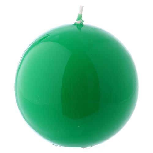 Bougie Sphère Brillante Ceralacca diam. 8 cm vert 1