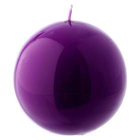 Bougies, cierges, chandelles: Bougie Sphère Brillante Ceralacca diam. 8 cm violet