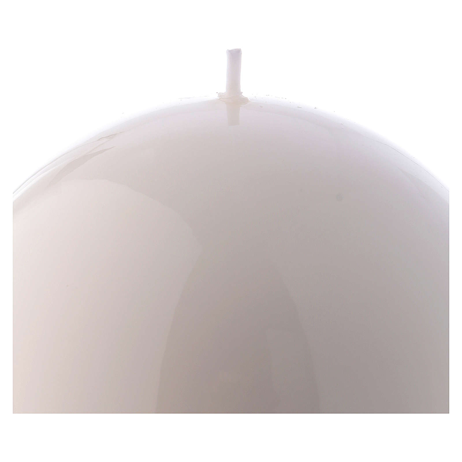 Spherical white Ceralacca candle diameter 12 cm 3