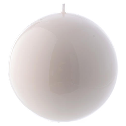 Spherical white Ceralacca candle diameter 12 cm 1