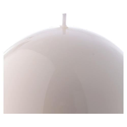 Spherical white Ceralacca candle diameter 12 cm 2